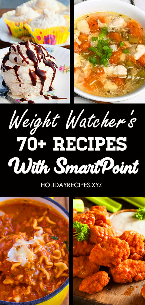 70+ Easy Weight Watchers Recipes with SmartPoints for Weekly Meals Plans. For Dinner, Breakfast, Dessert, Lunch, Snacks or appetizers. Like Meatloaf Muffins, Crockpot, Chicken, Soup, WW Freestyle, Vegetarian, instant pot, slow cooker and others. Include: Weight watchers freestyle recipes, Ww freestyle recipes, Weight watchers snacks, Weight watchers meals with points, Weight watchers chicken recipes, Weight watchers crock pot recipes. #weightwatchersrecipes #wwfreestylerecipes #weightwatchersrecipeschicken #weightwatchersmealswithpoints
