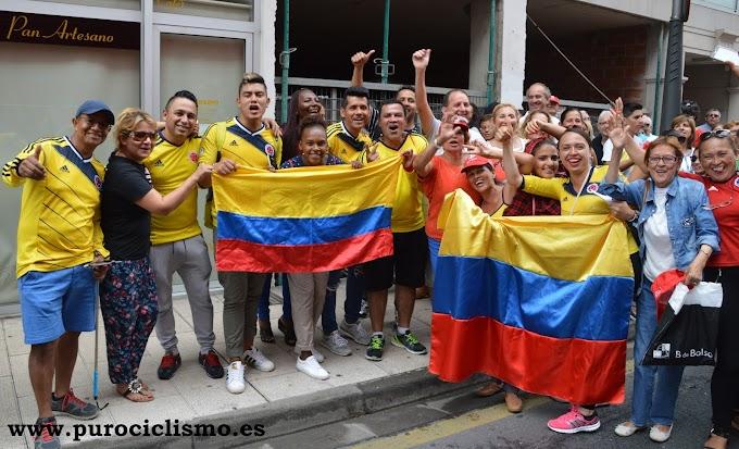La afición colombiana en la Vuelta