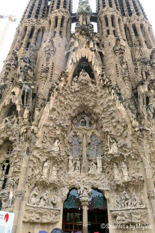 世界遺産サグラダ·ファミリア教会の誕生のファザード Basílica de la Sagrada Família
