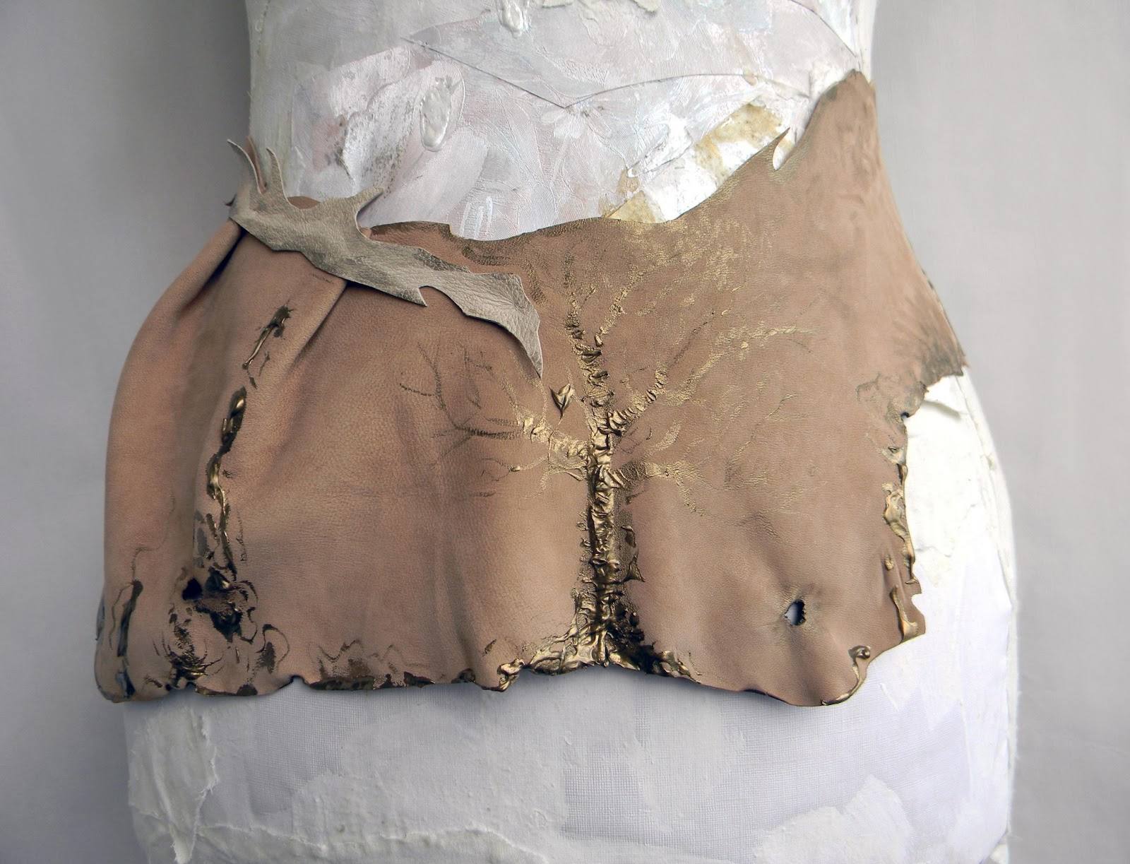 Unique Bustle Skirt Leather Belt Savannah Mori Girl Woodland Inspired