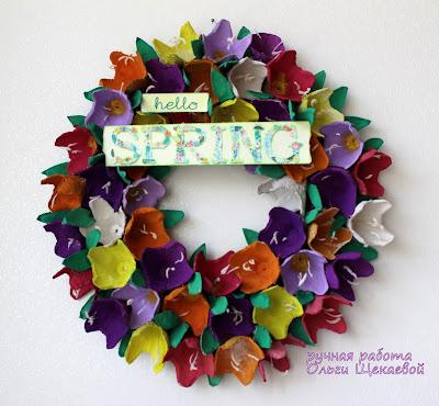 венок, весенний, цветы, hello spring