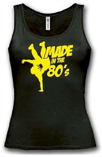"""Made in the 80s"" fitness vest for ladies"