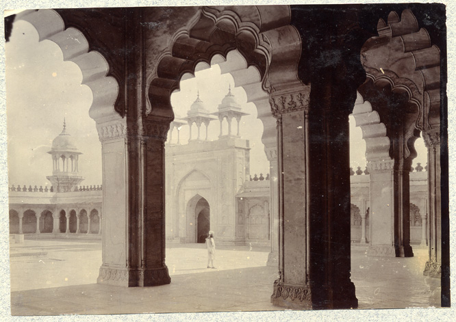 A Gelatin Photo of Moti Masjid, Agra by John Mitchell Holmes, a British officer, from the 1890's