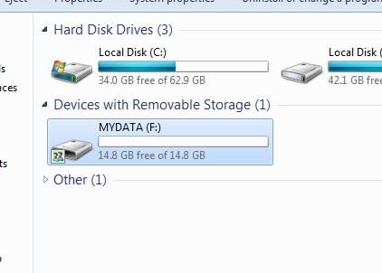 increase SD card pendrive memory space