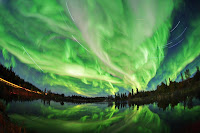 Aurora over Hidden Lake Territorial Park