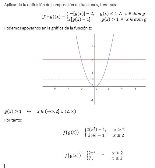 Ejercicio resuelto funciones de variable real.