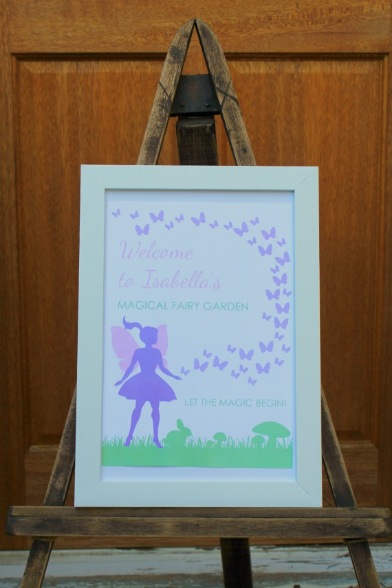 Fairy Party, Fairy Welcome sign, Fairy Party Ideas, Kids Party ideas, girls Parties, 3rd birthday