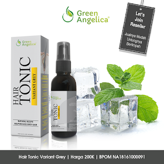 agen green angelica, cara pemakaian hair tonic variant grey, customer service green angelica, hair tonic variant grey green angelica, harga hair tonic variant grey green angelica, manfaat hair tonic variant grey green angelica, menghilangkan uban di usia muda, minyak kastor green angelica, obat penghitam rambut green angelica, obat rambut hitam,