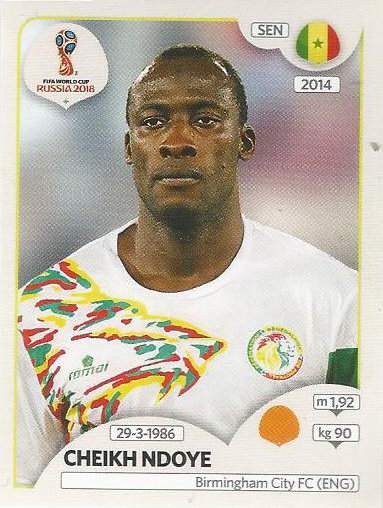 #631-SENEGAL /& STOKE CITY-MAME DIOUF PANINI FIFA WORLD CUP-2018 RUSSIA