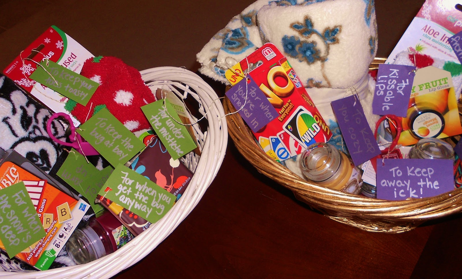 Winter Survival Kit Gift Baskets.   & Hairdresser In The Kitchen~**: Winter Survival Kit Gift Baskets