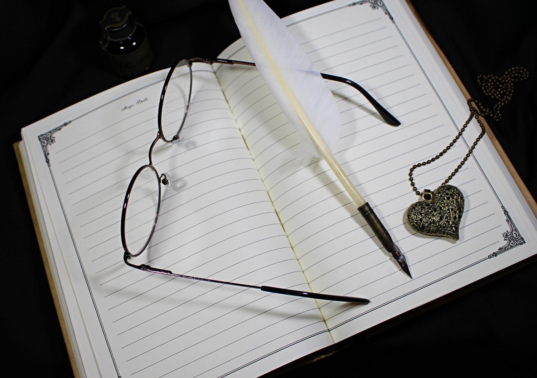 nerd girl in round vintage retro harry potter eyeglasses