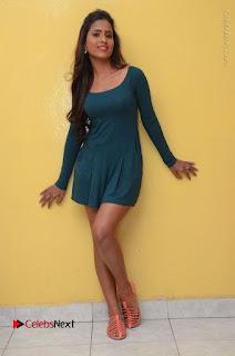 Telugu Actress Prasanthi Stills in Green Short Dress at Swachh Hyderabad Cricket Press Meet  0107.JPG