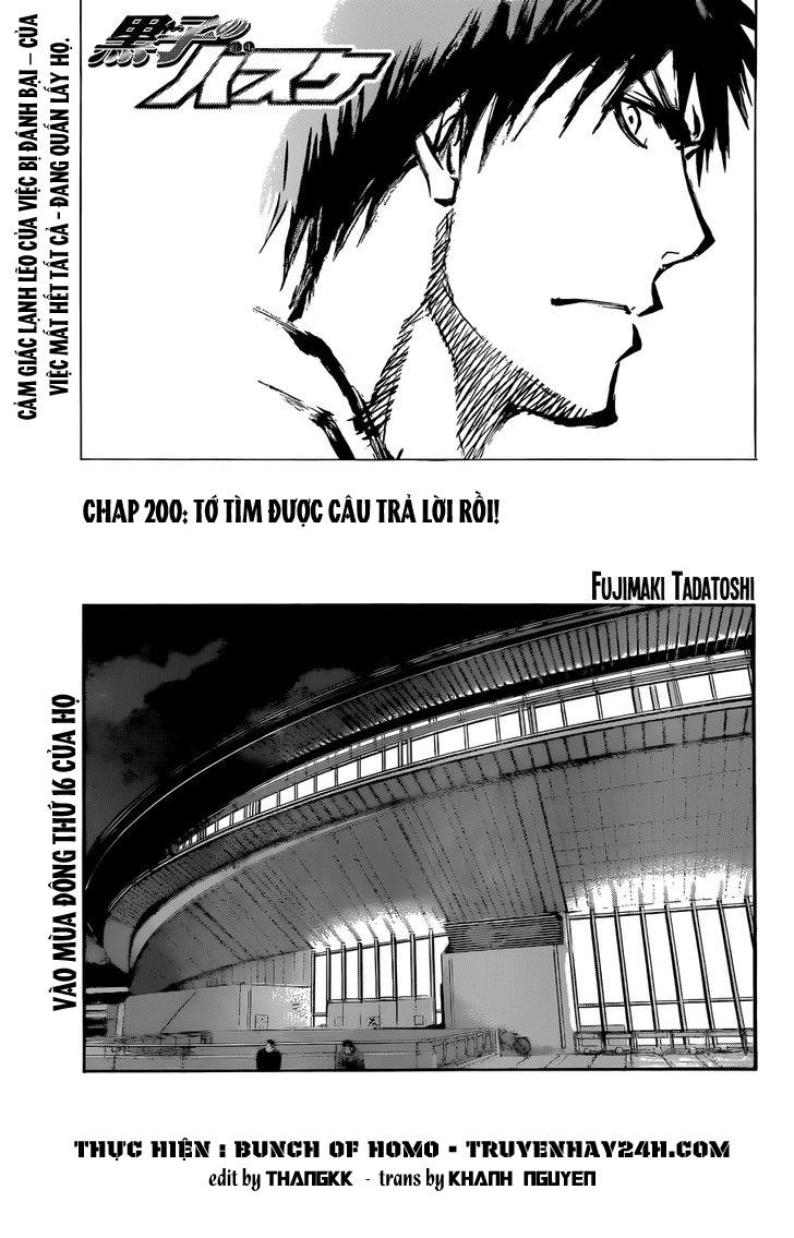 Kuroko No Basket chapter 200 trang 1