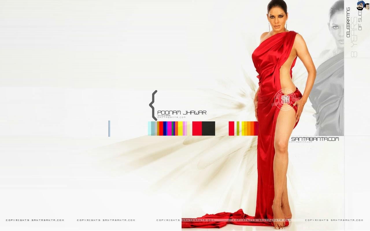 Poonam Jhawar Full Sexy Body In Red Dress