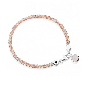 Astley Clarke Pink Breast Cancer Biography Bracelet