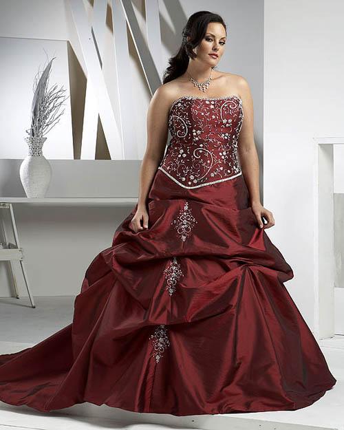 Elegant Bridal Style: Plus Size Red And White Wedding Dresses