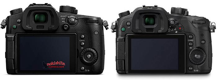 Сравнение Panasonic Lumix GH5 и GH4, вид сзади