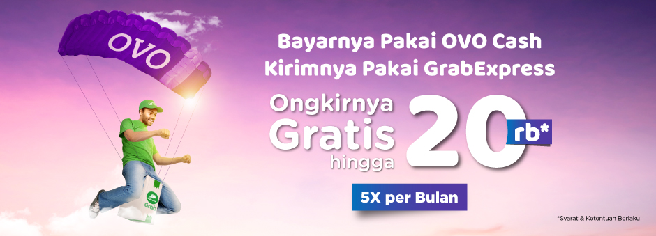 #Tokopedia - #Promo #Voucher 5X Gratis Ongkir 20K Pakai Grab Express & OVO (s.d 31 Mar 2019)