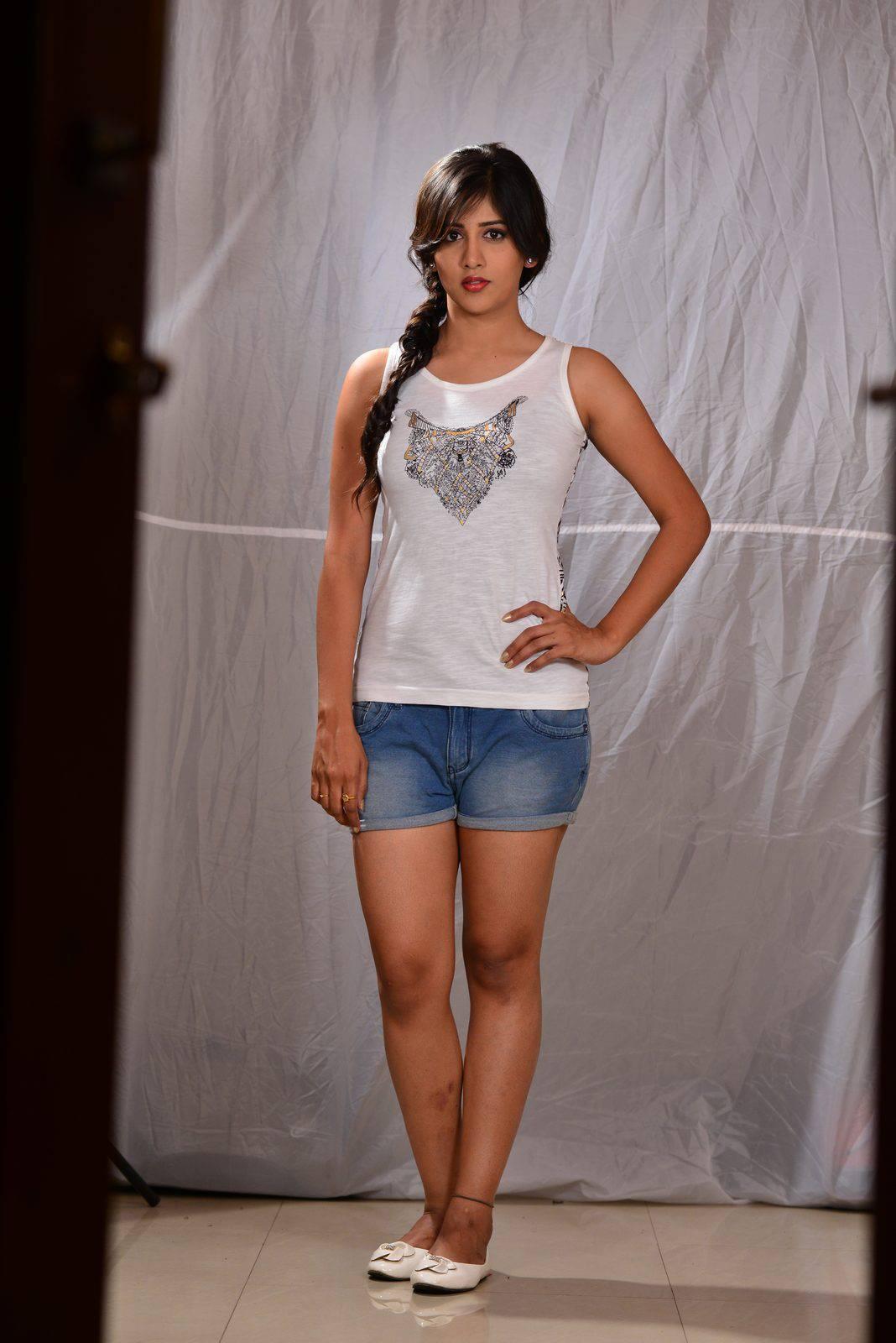Actress Chandini Chowdary Long legs Hot Stills