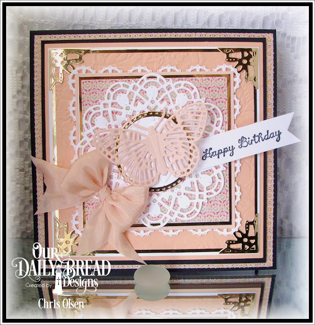 Our Daily Bread Designs, All Mothers, Layered Lacey Squares, Doily, Ornate Flowers and Borders, Double Stitched Circles, Fancy Fritillary, Cozy Comfort Quilt Collection, designed by Chris Olsen