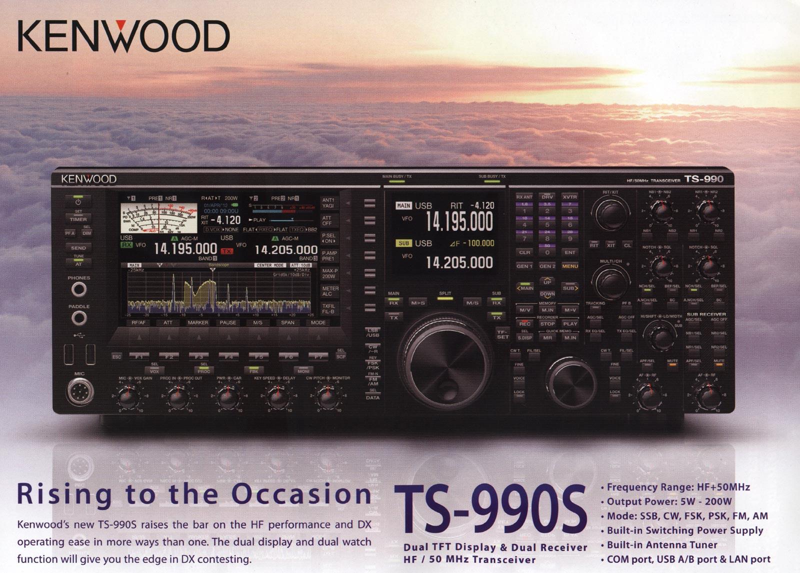 0797081ff3462 ... assistir a uma grande risada do mercado de rádio amador ... Vamos ver  ... Aqui está a foto de lançamento e algumas informações de Kenwood sobre  TS-990S.