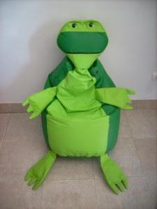 Puff en forma de tortuga ninja
