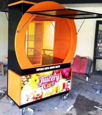 gambar model gerobak jus buah modern terbaru