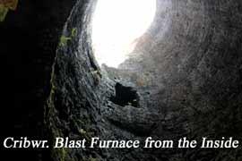Cefn Crwbr. Inside Blast Furnace Chimney