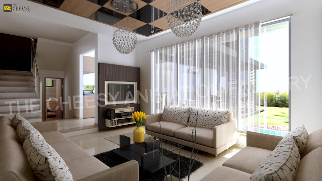 3D Living Room Interior Design