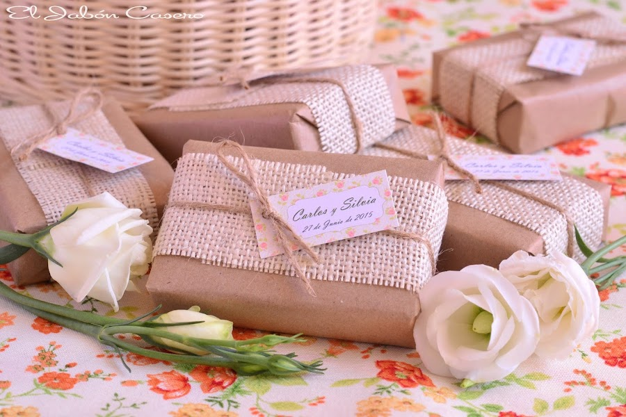 detalles de boda jabones naturales rusticos