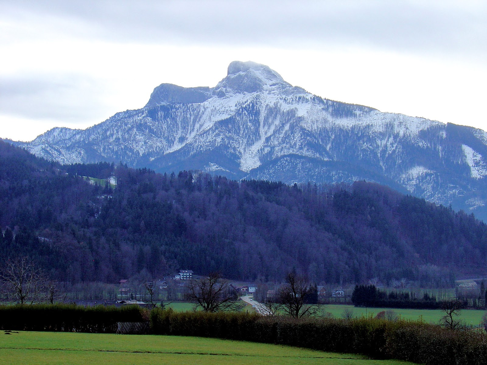 En route to Salzburg, Austria, we stopped at a rest area for a wonderful preview of the Alps!