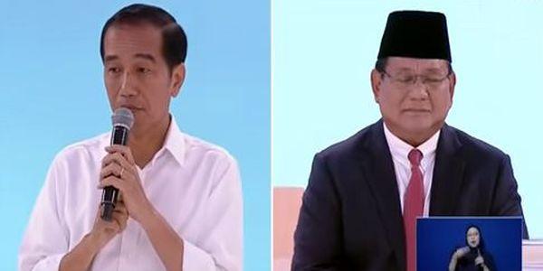 foto debat calon presiden jokowi prabowo