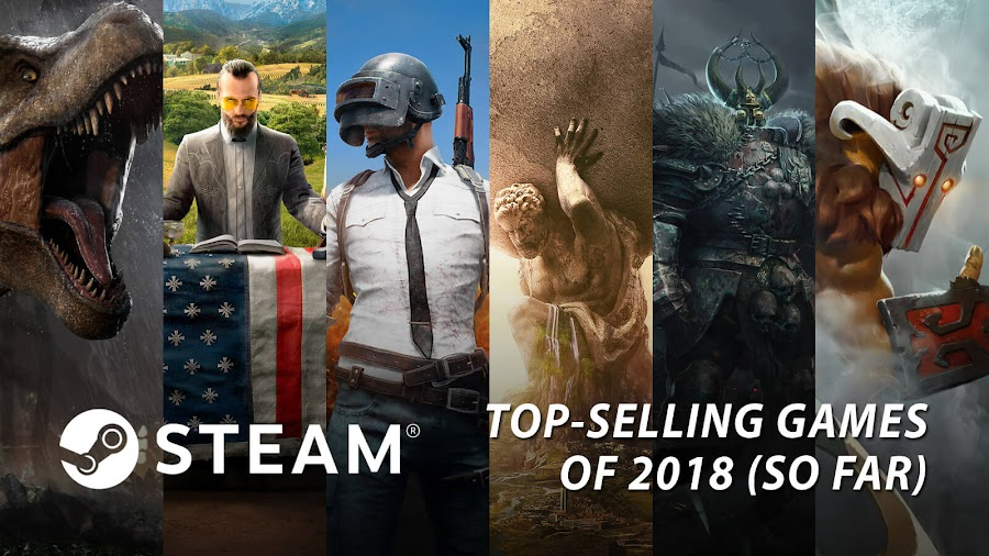 best selling video games 2018 steam