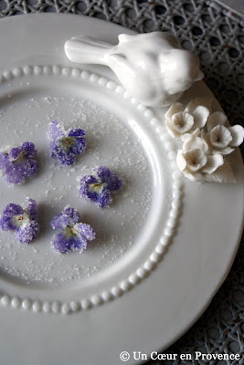 Crystalized violets