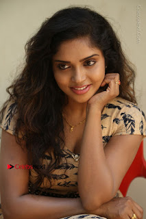 Telugu Actress Karunya Chowdary Stills in Short Dress at ATM Not Working Press Meet  0213.jpg