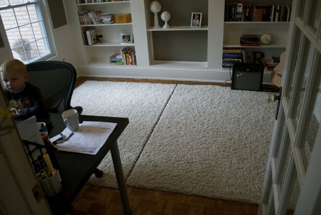 So Anyway My 2 Rugs Came To About 130 Bucks But When I Put Them In The Office This Is What They Looked Like After You Stepped On