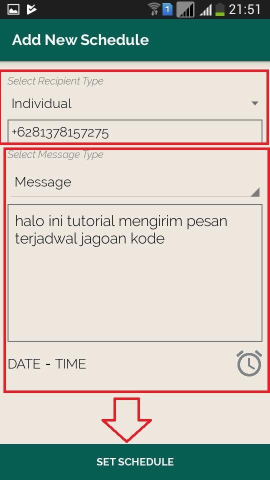 Cara Mengirim Pesan Otomatis Di Whatsapp Dengan Jadwal Jagoan Kode