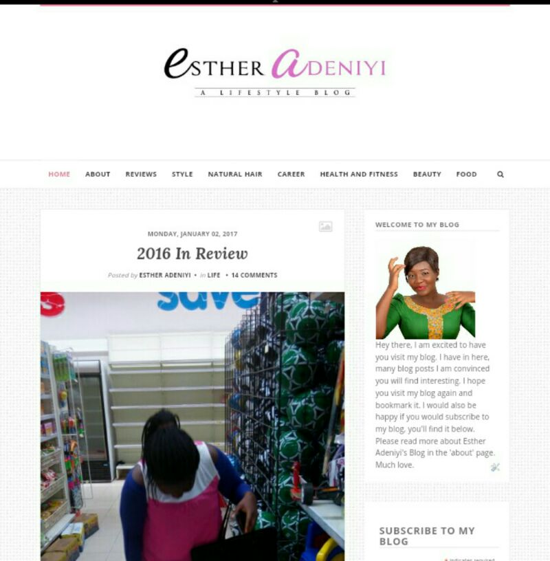 Esther Adeniyi's Blog