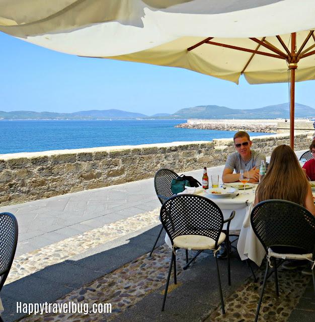 Restaurant  in Alghero, Sardinia, Italy