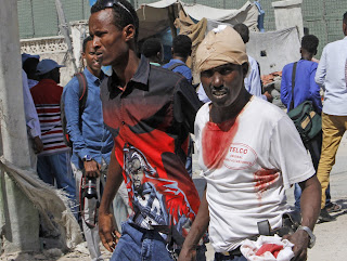 At about 16 people has been confirmed dead as a vehicle packed with explosives was  detonated at a military checkpoint near Somalia's presidential palace.