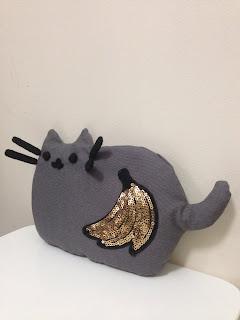 Pusheen kedi emoji muz aplike oyuncak satın al