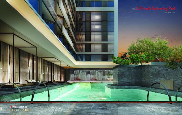 bể bơi xanh tjai dự án La Luna Resort