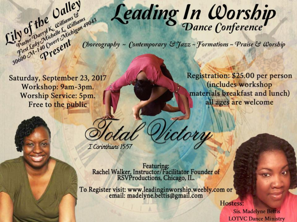 SEPTEMBER 23, 2017 ~ Covert, Michigan | Praise Dance Conferences 2019