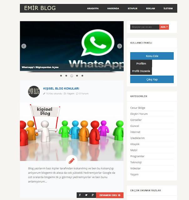 blogemir.tk Adresi Yayına Tekrar Girdi Sizde Takip Sizde Kazanın