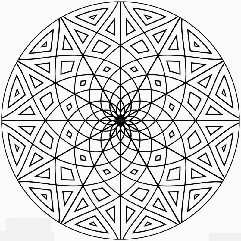 Geometric Free Printable Coloring Pages coloring.filminspector.com