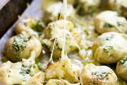 Cheesy Garlic Butter Baby Potatoes