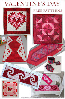 Free quilt patterns and tutorials for Valentines Day
