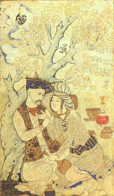 Shah Abbas and Wine Boy, Persia,1627