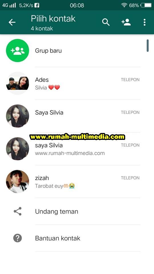 Cara Menghapus Kontak Whatsapp Di Android Rumah Multimedia