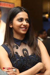 Actress Rakul Preet Singh Stills in Beautiful Blue Long Dress at Dhruva Salute to Audience Event  0018.JPG